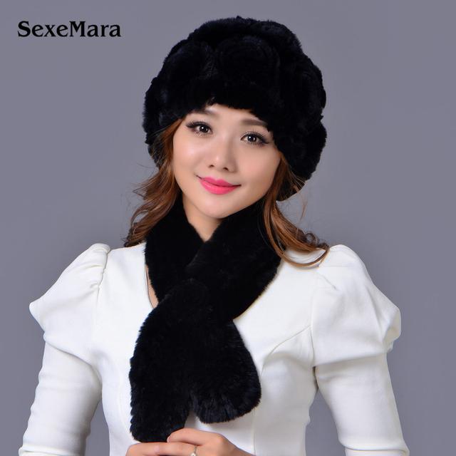 Chapéu de Venda quente Da Moda Quente Skullies Tampas de Pele de Coelho Tampão do Inverno Mulheres Gorros Bonnet Femme Hiver Feminino Caps Frete Grátis