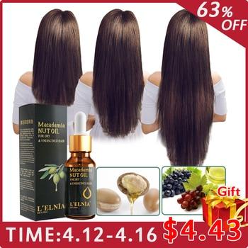 Hair Growth Essence Macadamia Nut Oil Fast Powerful Treatment  Liquid Hair Loss Hair Care Products Serum Repair Hair root 20ml Чокер