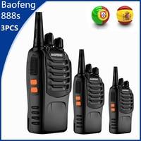"888s שני הדרך רדיו 3pcs Baofeng 888S מכשיר הקשר 6 ק""מ CB Ham Radio bf888s 5W שני הדרך רדיו FM לרכב משדר bf888s צעצוע Interphone Comunicador (1)"