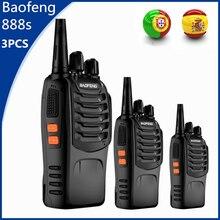 3 шт. Baofeng 888 S двухканальные рации 6 км CB Ham Радио BF-888S 5 Вт двухстороннее автомобиля FM трансивер bf888s игрушка переговорные Comunicador