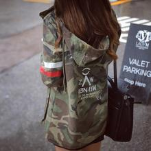 Jacket Women 2016 New Arrival Female Army Green Printed Camouflage Jacket Chaquetas Mujer Fall Jackets For Women Coat W489