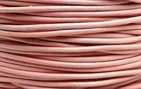 Free shipping 100m 2mm Pink  Round Cowhide Genuine Leather Cord,2mm Real Leather cord