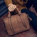 2016 new small shoulder bag messenger bag bag handbag fashion personality simple black gray purple brown leather PU fabric