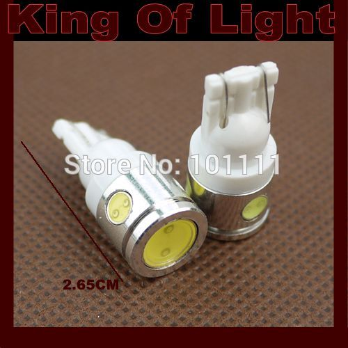10x High quality led Car styling lighting 194 W5W T10 4 leds wedge 2.5W high power led SMD Free shipping