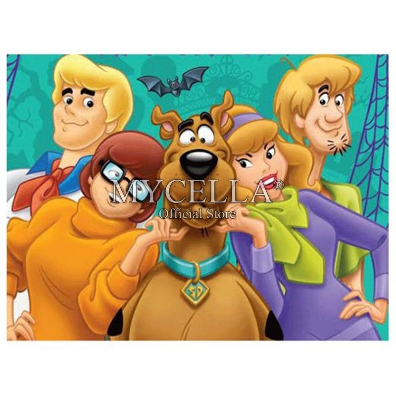 Needlework 5d Diy Pintura Diamante Completo Scooby Doo Diy