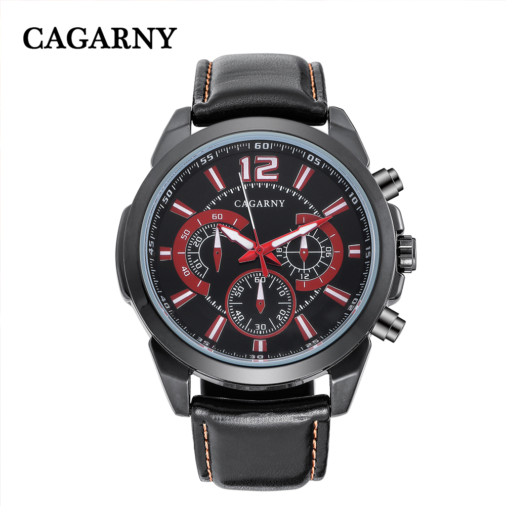 free shipping quartz wristwatches leather strap sports watches casual mens wrist watch black case (1)