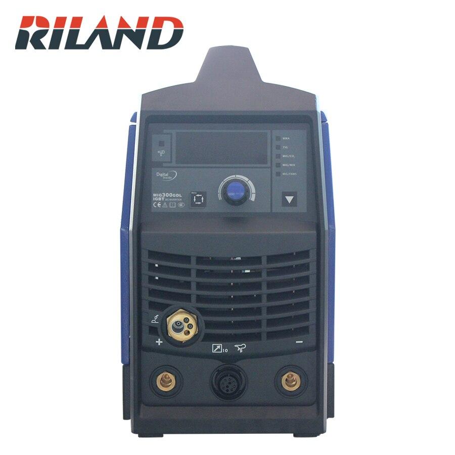 RILAND Smart Welder 3P 380V MIG Welding Machine MIG300GDL  TIG MMA Equipment Electric IGBT