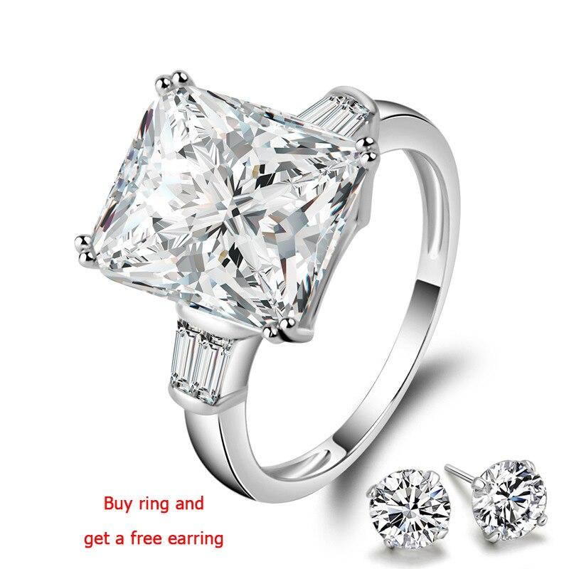 QYI bague de fiançailles 5 carats de qualité supérieure zircon anneaux de mariée 925 en argent Sterling couleur or blanc femmes anneaux cadeau