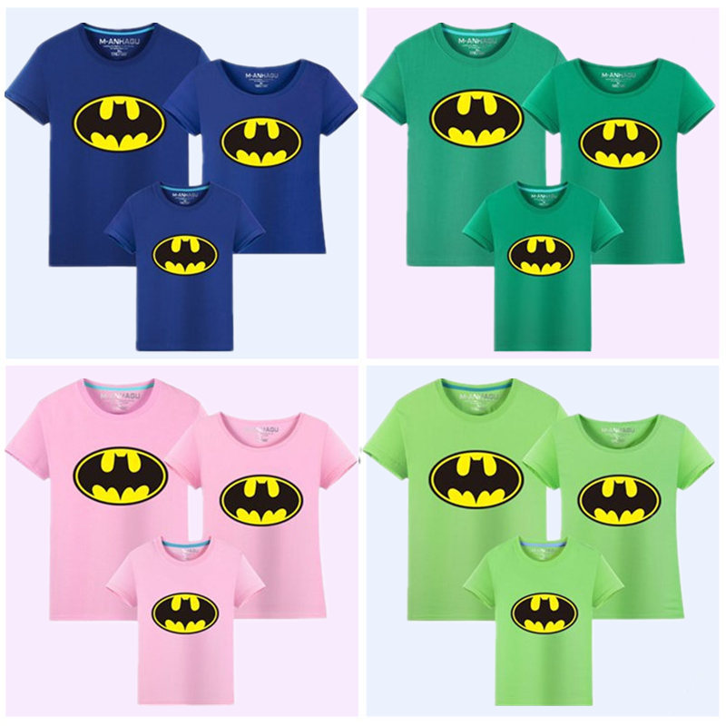 Family Matching Outfits Batman T-shirt Mommy and Me Clothes fashion - Children's Clothing - Photo 4
