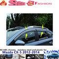 Mazda CX-5 CX5 2012 2013 2014 car body cover detector Stick lamp plastic Window glass Wind Visor Rain/Sun Guard Vent 4pcs