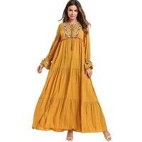 Malaysia Turkish Kaftan Dress Pregnant woman Abayas Dubai Muslim Maxi Dress Islamic Clothing M4