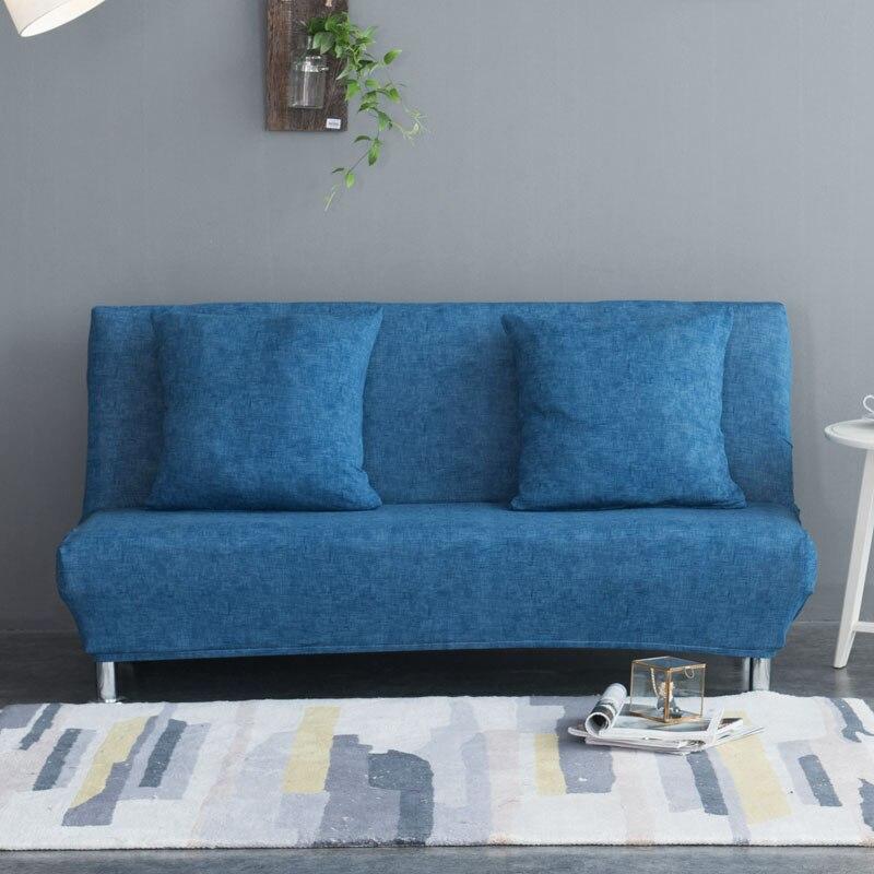 Elastic Sofa Bed Cover No Armrest Removable Stretch