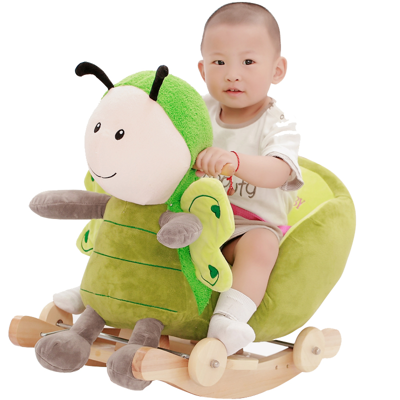 Baby swing Plush Horse Toy Rocking Chair Baby Bouncer baby Swing Seat Outdoor Baby Bumper Kid Ride On Toy Rocking Stroller Toy
