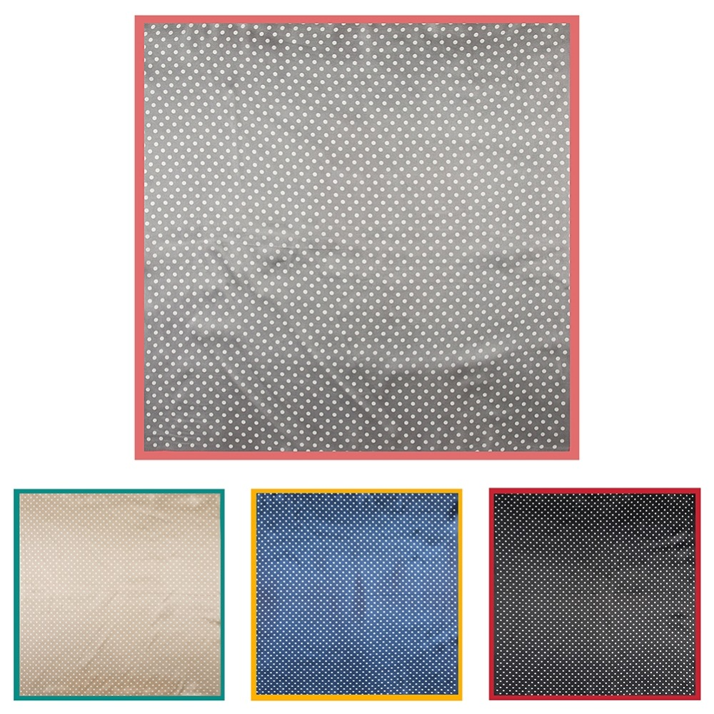 LEAYH Fashion Spotted Polka Dots Silk Satin Feel Scarves For Women Ladies Small Neck Square Scarf Wraps 60 60cm in Women 39 s Scarves from Apparel Accessories
