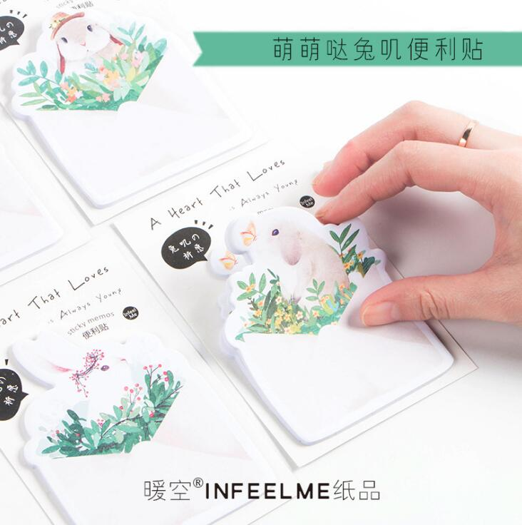 30 pages/pack Wish of Rbbit Memo Pad Sticky Notes Memo Notebook Stationery Papelaria Escolar School Supplies 4 pcs lot cat memo pad stationery papelaria escolar school supplies memo pad gift cute kawaii animal sticky notes memo notebook