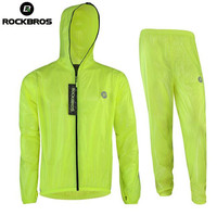ROCKBROS Men Women Waterproof Mountain Bike Raincoat Cycling Clothing Bike Raincoat Windbreaker Cycling Rain Jacket Jerseys
