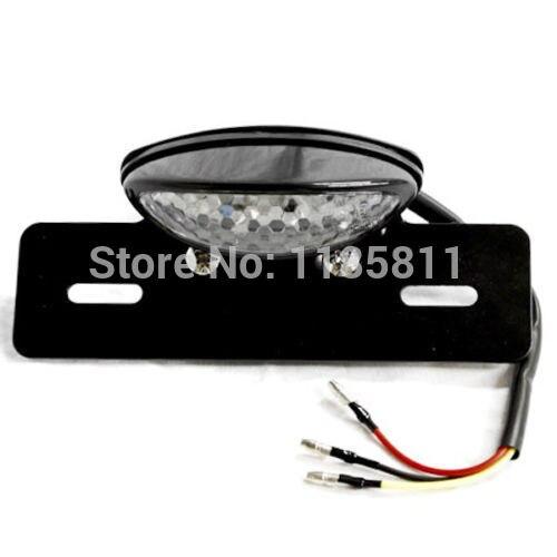 Black License Plate Brake Stop Tail Light For Yamaha Custom V-Max Virago Stratoliner Midnight Deluxe
