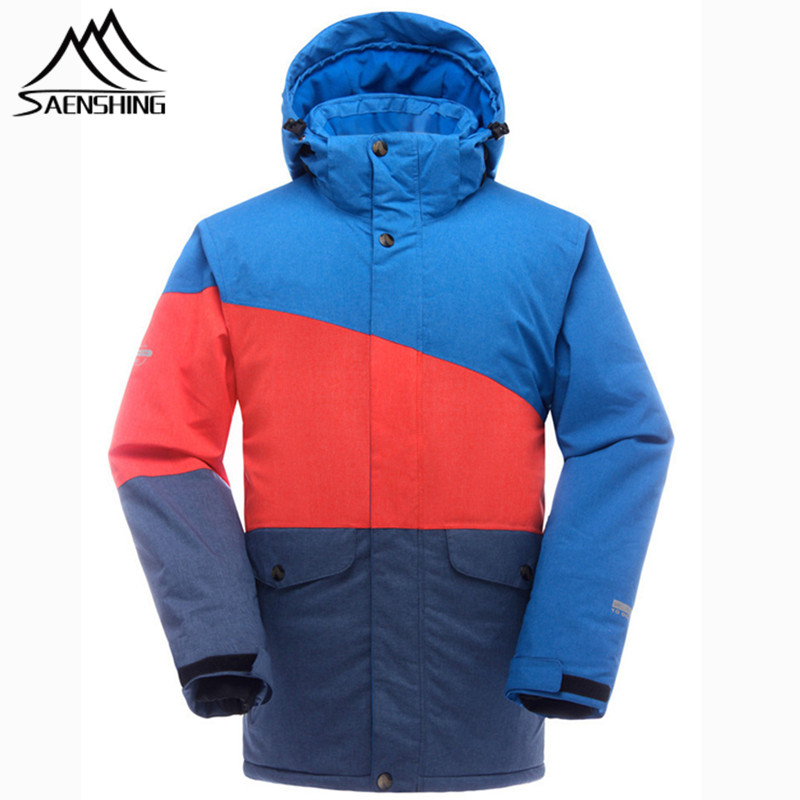 все цены на SAENSHING Brand Ski Jacket Men Waterproof Super Warm Snowboard Jacket Snow Coats Breathable Outdoor Skiing and Snowboarding Wear