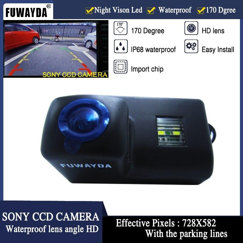 Eerlijk Fuwayda Sony Ccd Auto Achteruitrijcamera Reverse Spiegelbeeld Guide Line Camera Voor Peugeot 206 207 306 307 308 406 407 5008 Partner Tepee