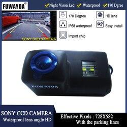 FUWAYDA SONY CCD widok z tyłu samochodu lusterko wsteczne przewodnik obraz linii kamery dla Peugeot 206 207 306 307 308 406 407 5008 Partner Tepee w Kamery pojazdowe od Samochody i motocykle na