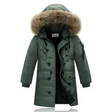 Nouveau 2016 Enfants Vers Le Bas et Parkas En Plein Air Garçons Long Down Manteaux D'hiver Épaissir Vêtements De Mode Veste Chaude