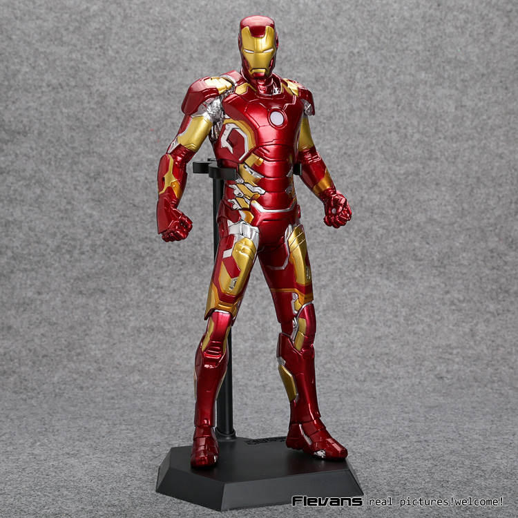 Crazy Toys Avengers Age of Ultron Iron Man Mark XLIII MK 43 PVC Action Figure Collectible Model Toy 12inch 30cm