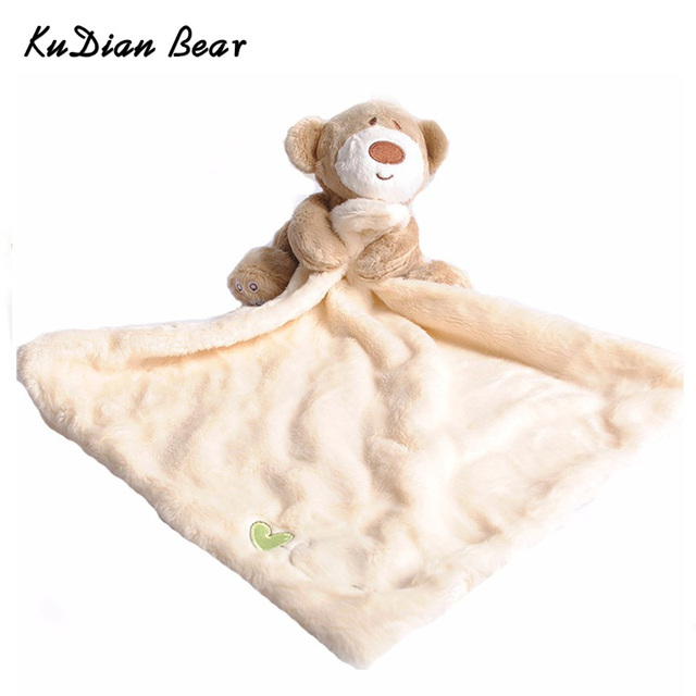 KUDIAN BEAR Newborn Cute Soft Bear Hand Towel Boys Infant Reassure Towel Bear Kids Appease Towels Baby Care Product BYC033 PT49