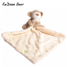 KUDIAN BEAR Newborn Cute Soft Bear Hand Towel Boys Infant Reassure Towel Bear Kids Appease Towels Baby Care Product BYC033 PT49