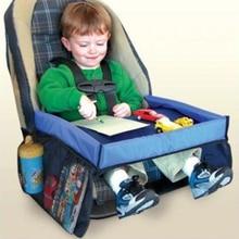 Детская портативная Настольная Крышка для автомобиля, высокий стул, водонепроницаемый держатель для коляски, настольный стол с ящиками для хранения вещей, обеденный Настольный лоток игрушечный стол