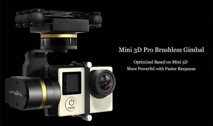 Livraison gratuite Feiyu Mini 3D Pro cardan sans balais 3 axes pour Gopro 3/3 +/4 livraison gratuite - 6