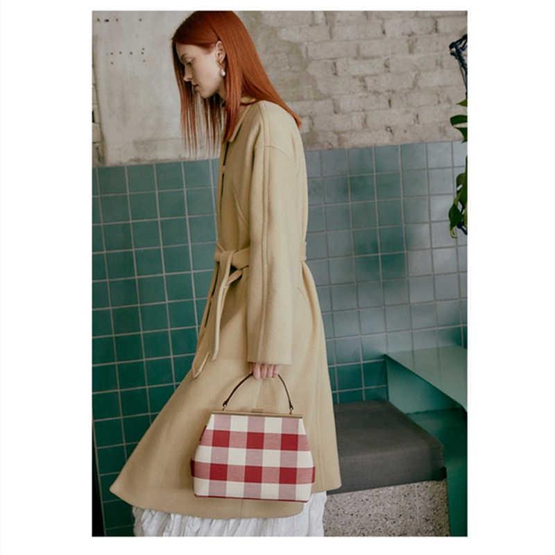 Nowa czerwona chusta skórzana torba na co dzień torebka wysokiej jakości torba na ramię luksusowe marki crossbody kobiet sac głównej femme