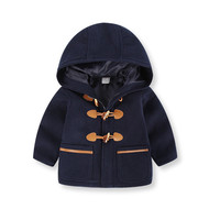 Toddler Kids Baby Boys Autumn Winter Hooded Coat Cloak Jacket Thick Warm Clothes Sep 28