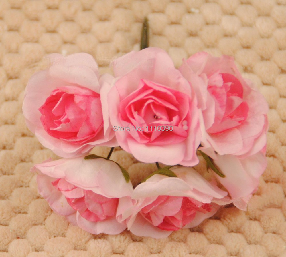 Artificial Mini Paper Rosesmulberry Paper Flowers Bouquetsdiy