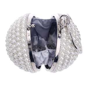 Image 3 - SEKUSA kadın İnci boncuklu akşam çanta inci boncuk el çantası el yapımı düğün çanta bej, siyah kalite güvence