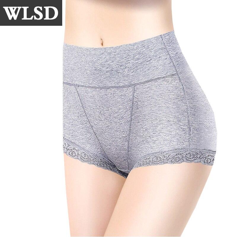 WLSD Cotton Panties High Waist Women Sexy Lace Body Shaper Underwear Soft Comfort Women  ...