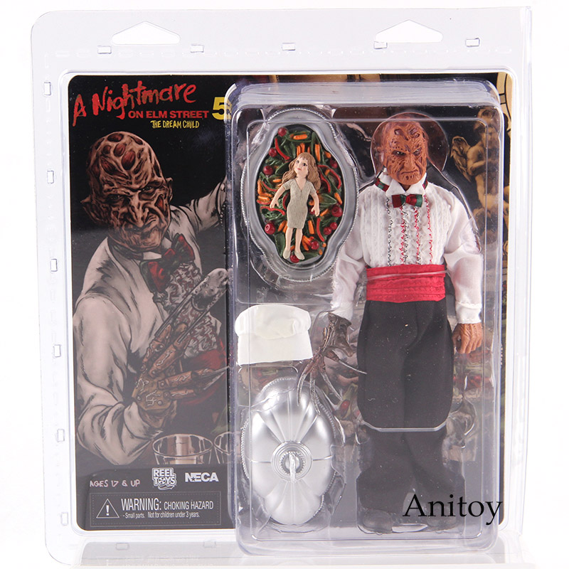 NECA A Nightmare on Elm Street 5 The Dream Child Freddy Krueger Action Figure PVC Horror Collectibles Model Toy horror film a nightmare on elm street 3 freddy krueger toys with lighting house action figure neca pvc collection model toy 28cm