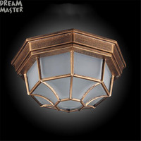 Retro Industrial Loft Nordic outdoor Ceiling Light vintage balcony aisle outdoor surface mounted ceiling lamp Moisture proof