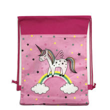 Unicorn School Backpack Drawstring Bag Cartoon for Girls,Boys Travel Storage bag