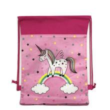 Unicorn School Backpack Drawstring Bag Cartoon for Girls,Boys Travel Storage bag