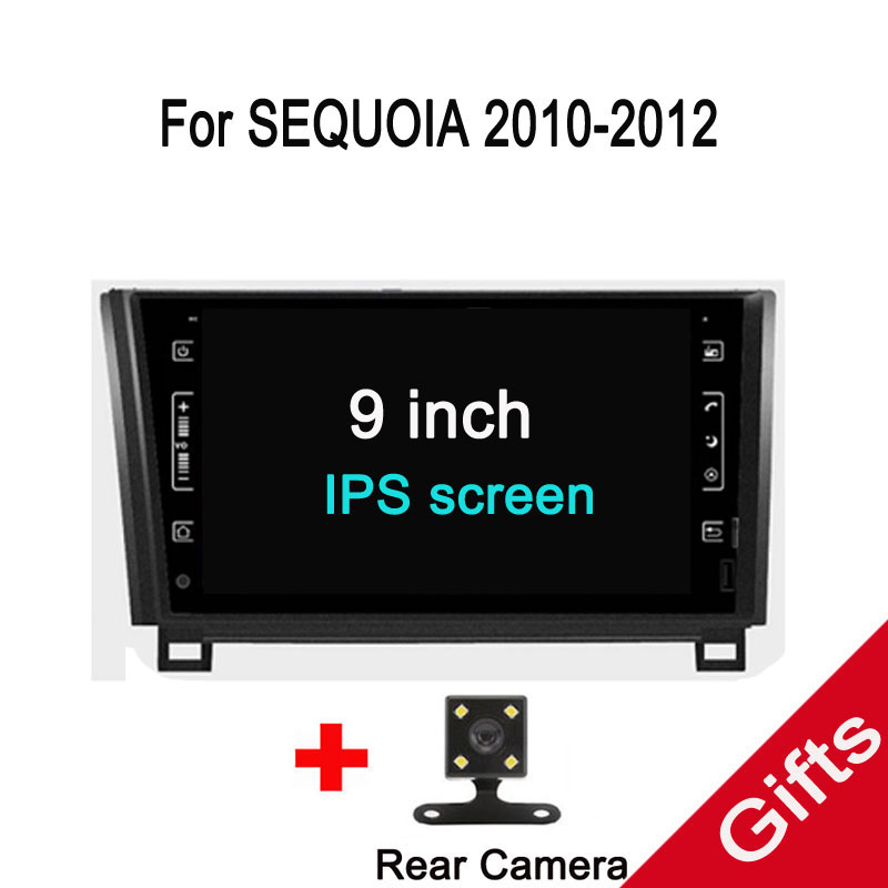 Octa Core Android 7.1 Fit Toyota Tundra/Sequoia 2007 2008 2009 2010 2011 2012 2013 lecteur DVD de voiture Navigation GPS Radio