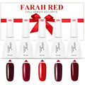 Azure 12ml Beauty Farah Red Series Set For Gel Polish Soak-off Nail Polish Vampire Style Long-Lasting UV Gel Polish