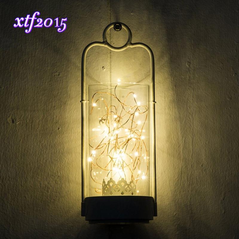 100/200/500/1000pcs Wholesale 2m 20LEDs Copper Wire LED Starry String Light Decorative Lamp for Glass Craft Fairy Wedding Party корейский канцелярские канцелярские акварель ручка гелевые ручки комплект 10шт цвет kandelia