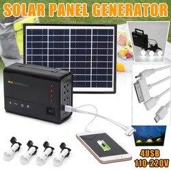 Tragbare Solar Panels Lade Generator Power System Hause Außen Beleuchtung für Led-lampe Solar Generatoren