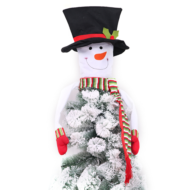 christmas snowman tree topper xmasholidaywinter wonderland party decorations ornament supplies 40