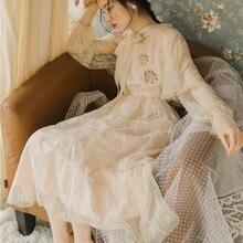 Новые модные женские платья винтажная кружевная накидка от солнца французское платье