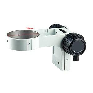 Image 4 - Support pour Microscope trinoculaire, pilier articulé de 76mm, bras réglable, Zoom stéréo, accessoires pour Microscope trinoculaire