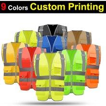 EN471 SFvest רעיוני אפוד gilet בטיחות workwear היי vis securite משלוח חינם מעיל ללא שרוולים אפוד בטיחות רפלקטור