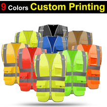 SFvest EN471 hi vis vest workwear safety gilet reflective securite  safety vest reflector sleeveless jacket free shipping
