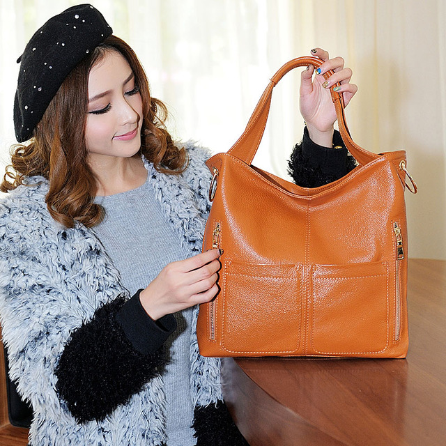 Retro Handbag European And American Style Fashion Handbag First Layer Of Cowhide Women Genuine Leather Ladies Shoulder Bag Brand