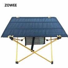 Mesa dobrável para acampamento, mesa dobrável ao ar livre de liga de alumínio à prova dágua ultra leve para piquenique e acampamento